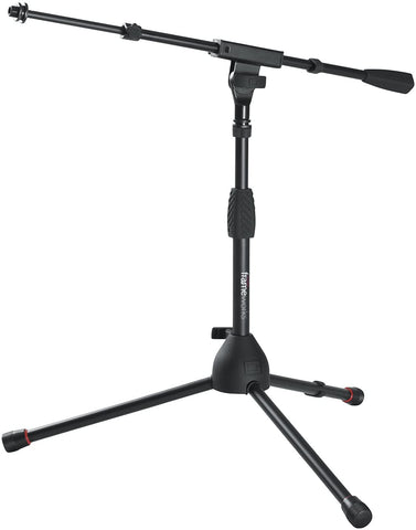 Short Tripod Base Microphone Stand with Soft Grip Twist Clutch, Boom Arm - Texas Tour Gear