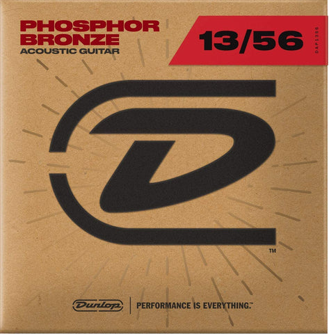 Dunlop DAP1356 Acoustic Phosphor Bronze Guitar Strings, Medium, .013–.056, 6 Strings/Set - Texas Tour Gear