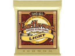 Ernie Ball Earthwood Light 80/20 Bronze Acoustic Set, .011 - .052 - Texas Tour Gear