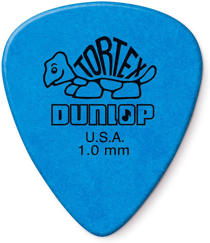 Dunlop Tortex Standard 1.0mm Blue Guitar Pick - 12 Pack - Texas Tour Gear