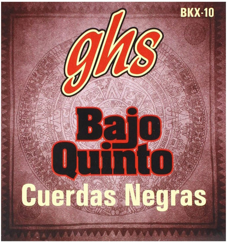 GHS BKX-10 Bajo Quinto - Black coated Stainless Steel 10-string - Texas Tour Gear