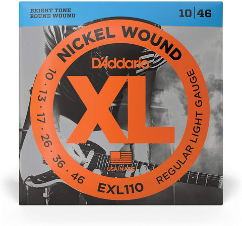 D'Addario EXL110 Nickel Wound Electric Strings .010-.046 Regular Light - Texas Tour Gear