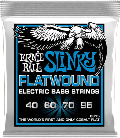 Ernie Ball Extra Slinky Flatwound Bass String, .040 - .095 - Texas Tour Gear