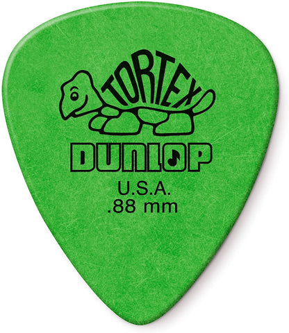 Dunlop Tortex Standard .88mm Green Guitar Pick - 12 Pack - Texas Tour Gear