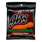 GHS BB20X Bright Bronze Extra Light 11-50 Acoustic Guitar Strings