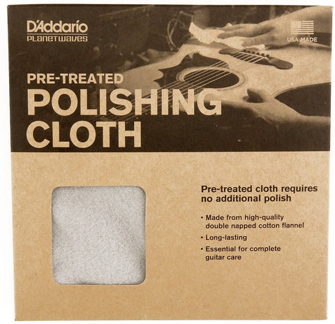 D'Addarío Pre-Treated Polishing Cloth - Texas Tour Gear