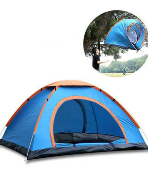 3-4 persons Tent Sunshade Automatic Quick Opening Sun Shelter Single Layer Waterproof UV Shade Camping Hiking
