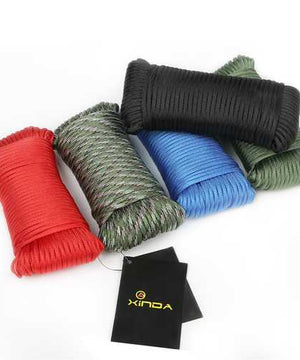 Xinda 31M Outdoor Climbing Safety Rope Rescue Survival Auxiliary Paracord String Cord 9 Cores