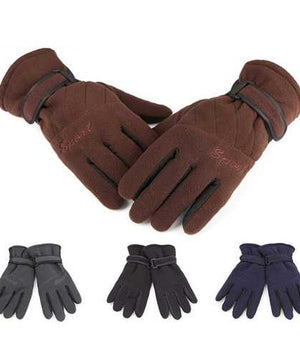 Aotu Outdoor Hiking Gloves Three Layer Thickening Windproof Soft Winter Warm Unisex Wrist Mitten