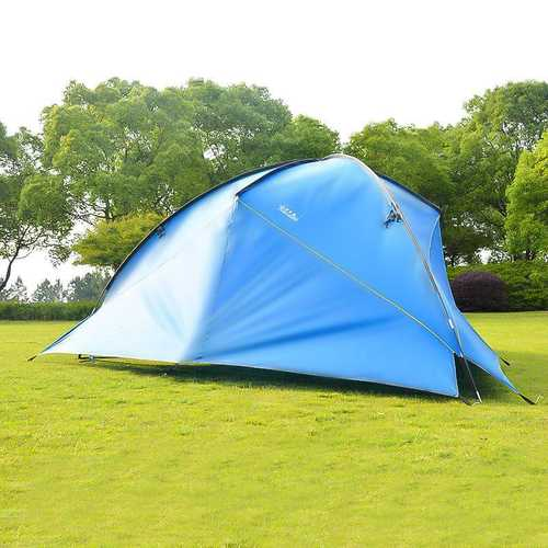 4.8 x 4.8 x 2m Camping Tent Sunshade Both Sides UV Portable Beach Tent Fishing Shade Wigwam