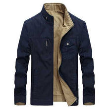 100%Cotton Reversible Double Sided Wearable Autumn Cotton Pockets Outdoor Jacket for Men