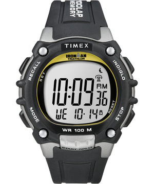 Timex Ironman Traditional 100-Lap - Black/Silver/Yellow Watch [T5E231]