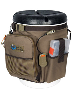 Wild River RIGGER 5 Gallon Bucket Organizer w/Lights, Plier Holder & Lanyard, 2 PT3500 Trays & Bucket w/Seat [WT3507]