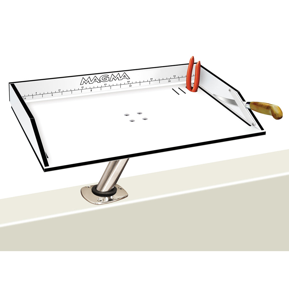 "Magma Bait/Filet Mate Table w/LeveLock Mount - 20"" - White/Black [T10-312B]"