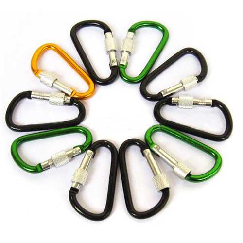 7CM D Shape Carabiner Fast Hang Buckle Climbing Hook Key Chain