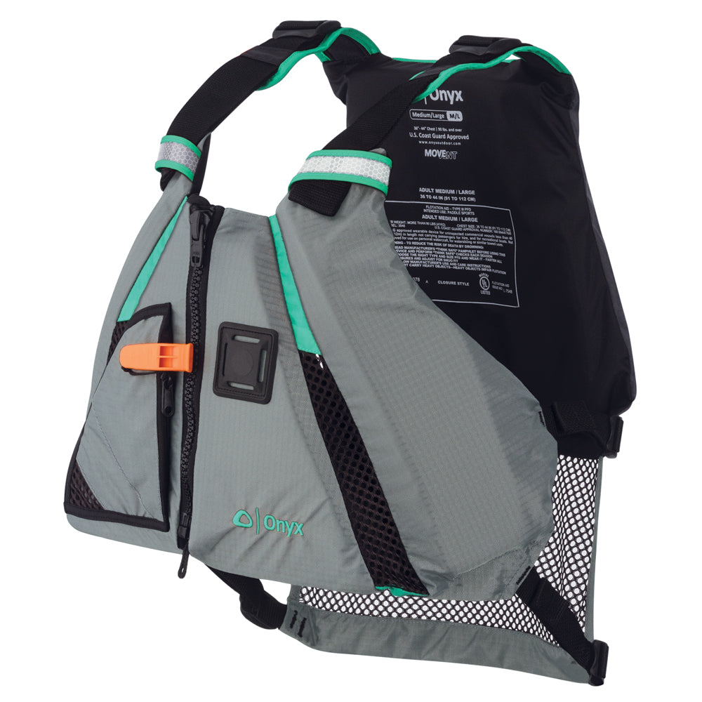 Onyx MoveVent Dynamic Paddle Sports Life Vest - M/L - Aqua [122200-505-040-15]