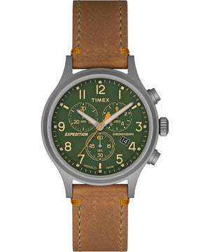 Timex Expedition Scout Chrono Watch - Tan/Green [TW4B044009J]