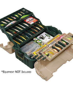 Plano Hip Roof Tackle Box w/6-Trays - Green/Sandstone [861600]