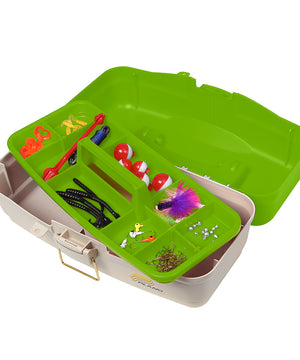 Plano Ready Set Fish On-Tray Tackle Box - Green/Tan [500010]