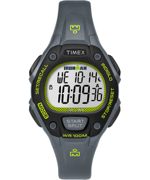 Timex IRONMAN Classic 30 Mid-Size Watch - Grey/Lime/Black [TW5M14000JV]