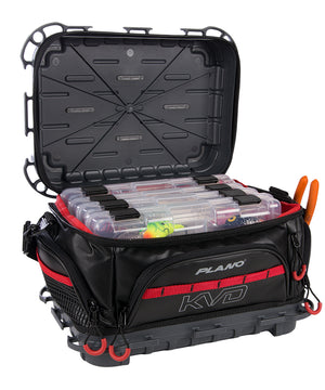 Plano KVD Signature Tackle Bag 3600 - Black/Grey/Red [PLAB36700]