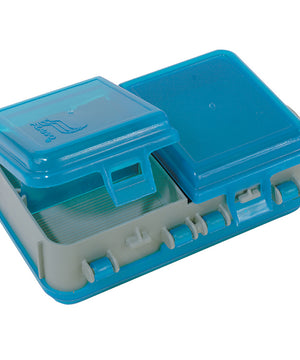 Plano Double-Sided Adjustable Tackle Organizer Small - Silver/Blue [171301]