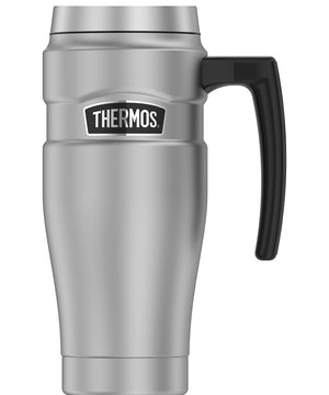 Thermos 16oz Stainless Steel Travel Mug - Matte Steel - 7 Hours Hot/18 Hours Cold [SK1000MSTRI4]