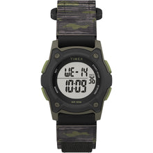 Timex Kids Digital 35mm Watch - Green Camo w/Fastwrap Strap [TW7C77500XY]