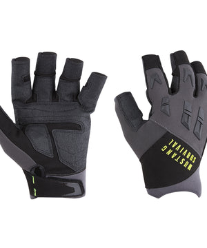 Mustang EP 3250 Open Finger Gloves - Small - Grey/Black [MA6004/02-S-262]