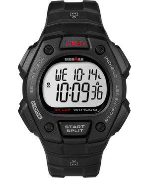 Timex IRONMAN Classic 30 Lap Full-Size Watch - Black/Red [T5K822]