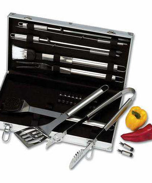 22pc Stainless Steel Barbeque Tool Set