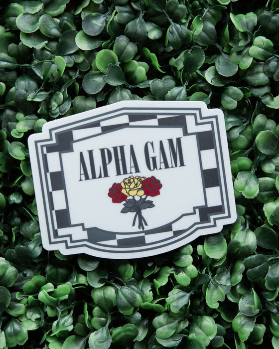 Alpha Gam Racing Sticker
