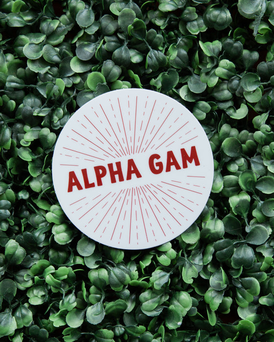 Alpha Gam Star Burst Sticker
