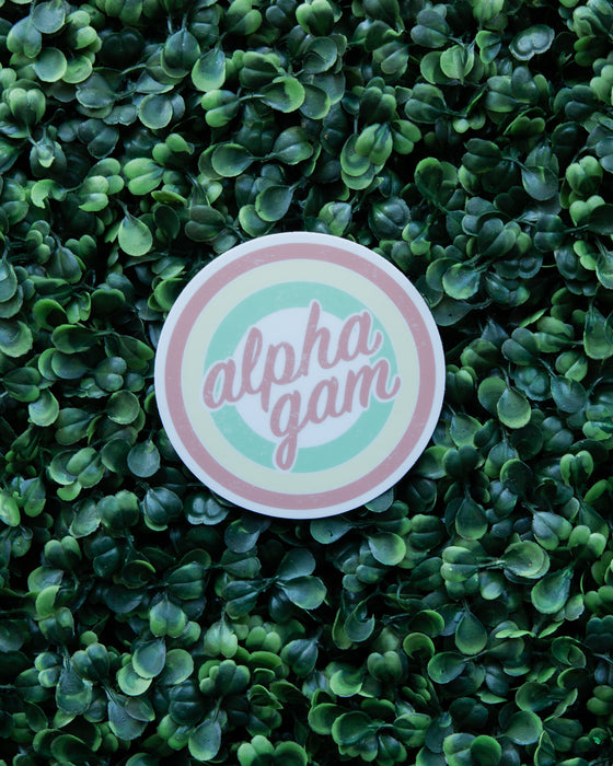 Vintage Alpha Gam Sticker