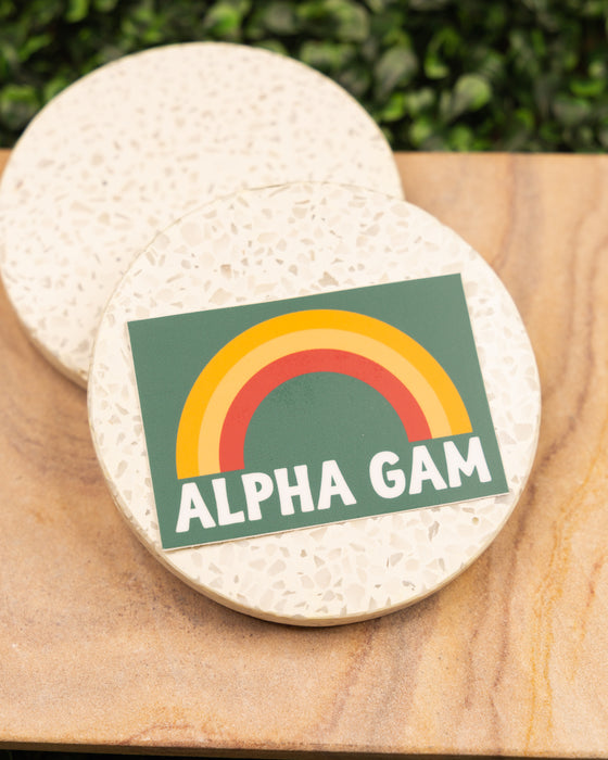 Alpha Gam Rainbow Sticker