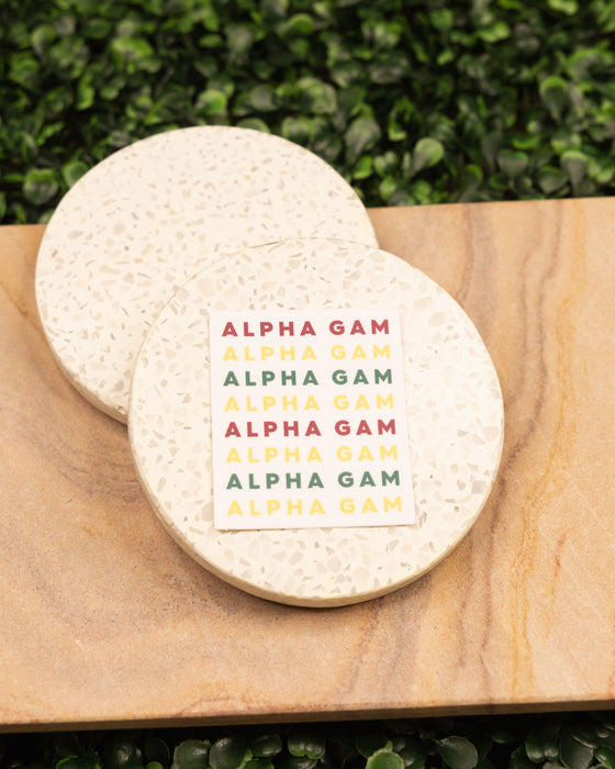 Alpha Gam Sticker