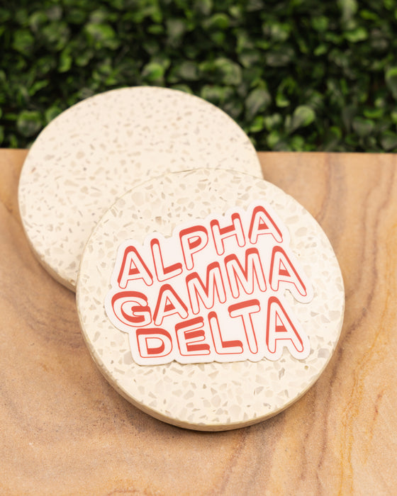 Alpha Gamma Delta Wave Sticker