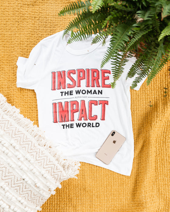 Inspire and Impact Shadow Tee