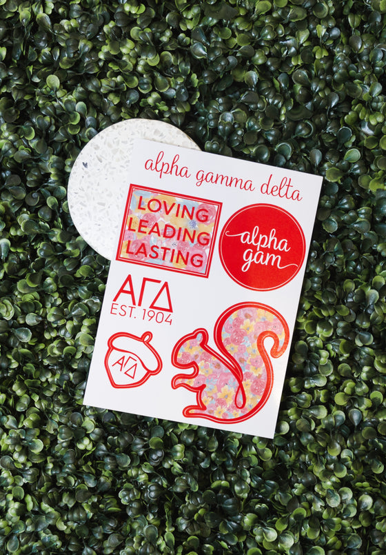Alpha Gam Sticker Sheet