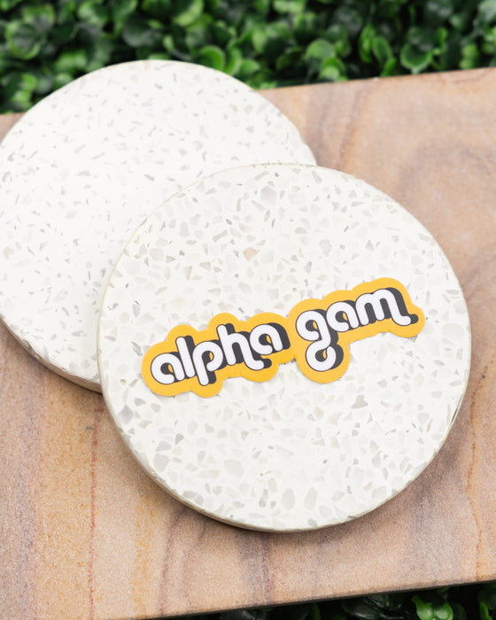 Alpha Gam Bubble Sticker