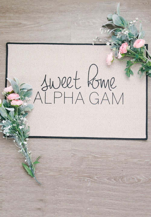Sweet Home Alpha Gam Doormat