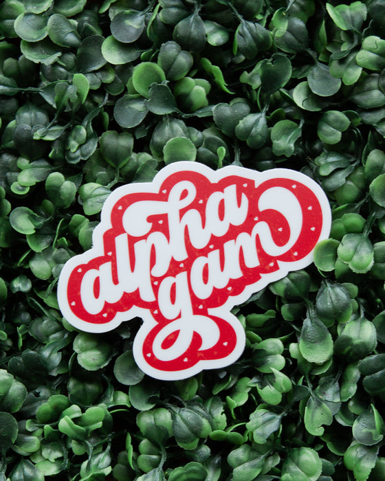 Falling for Alpha Gam Sticker