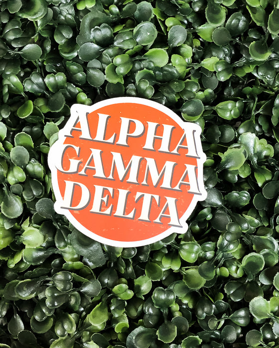 Alpha Gam Incredible Sticker