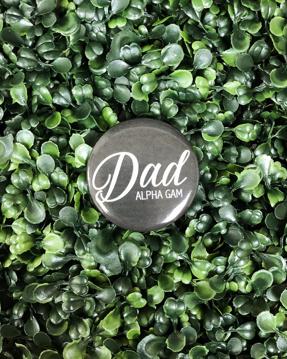 Alpha Gam Dad Button