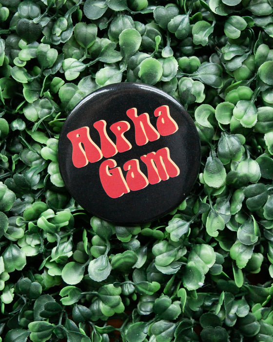 Retro Alpha Gam Button