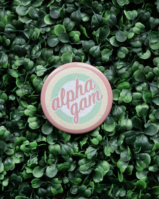 Vintage Alpha Gam Button