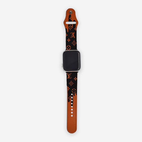 Customized Apple Watch Band LV Black Drip