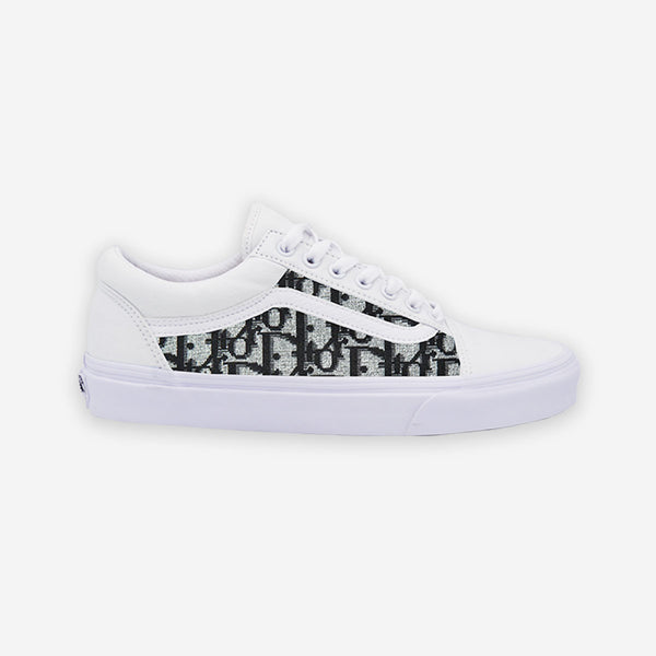 Customized White Old Skool Dior Pattern