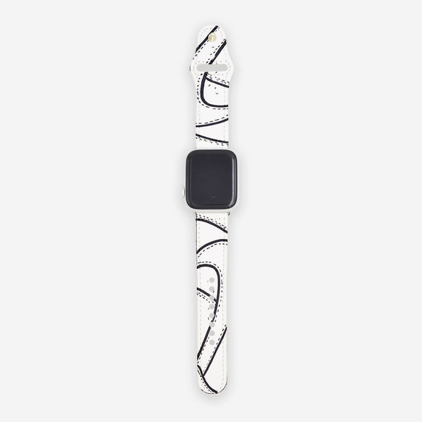 Customized Apple Watch Band White Cartoon Sketched Nike