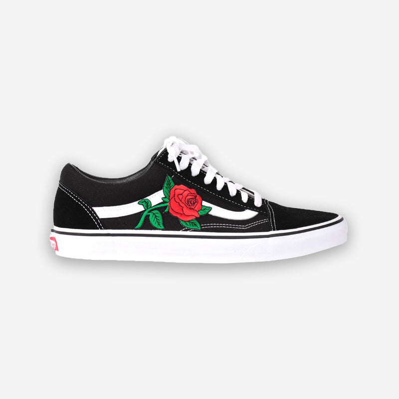 Customized Old Skool Roses Patch